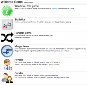 Game main page.